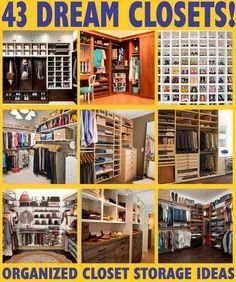 43 Dream closets - closet organization  storage ideas ...other home design and decor ideas.