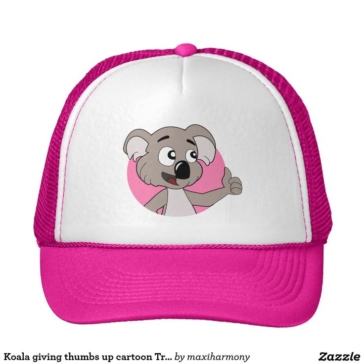 Koala giving thumbs up cartoon Trucker Hat