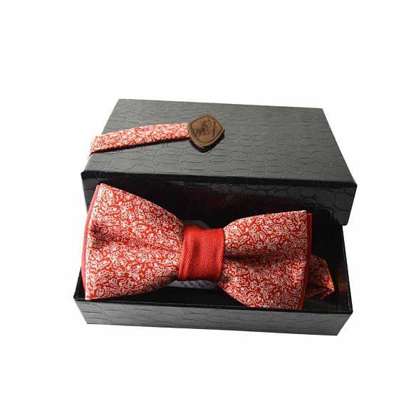 Noeud papillon rouge noel saint-valentin cadeau homme petit