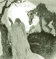 The Norwegian ghost known as the Gjenganger comes back from the dead because he left something undone in life, was murdered, or committed suicide. The Gjenganger commits violence against the living and can spread disease by pinching a victim, or in some traditions by biting the face. The Gjenganger also appears in Danish and Swedish lore under slightly different spellings.