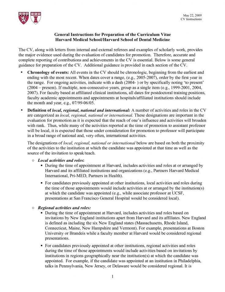 Cv template harvard resume format law school