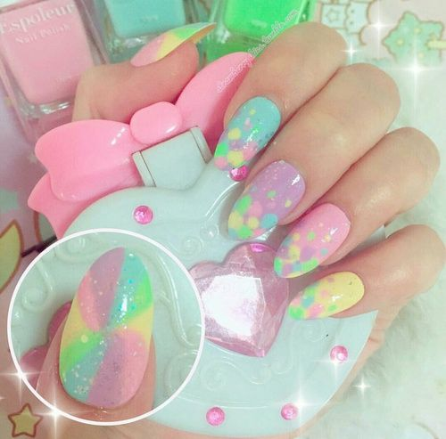 kawaii and nail art image