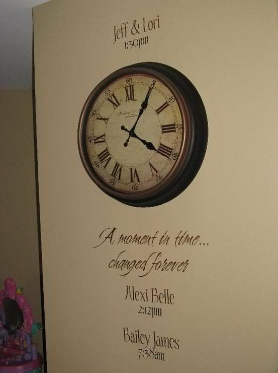 Best Uppercase Living Clocks Images On Pinterest - How to get vinyl lettering to stick to textured walls