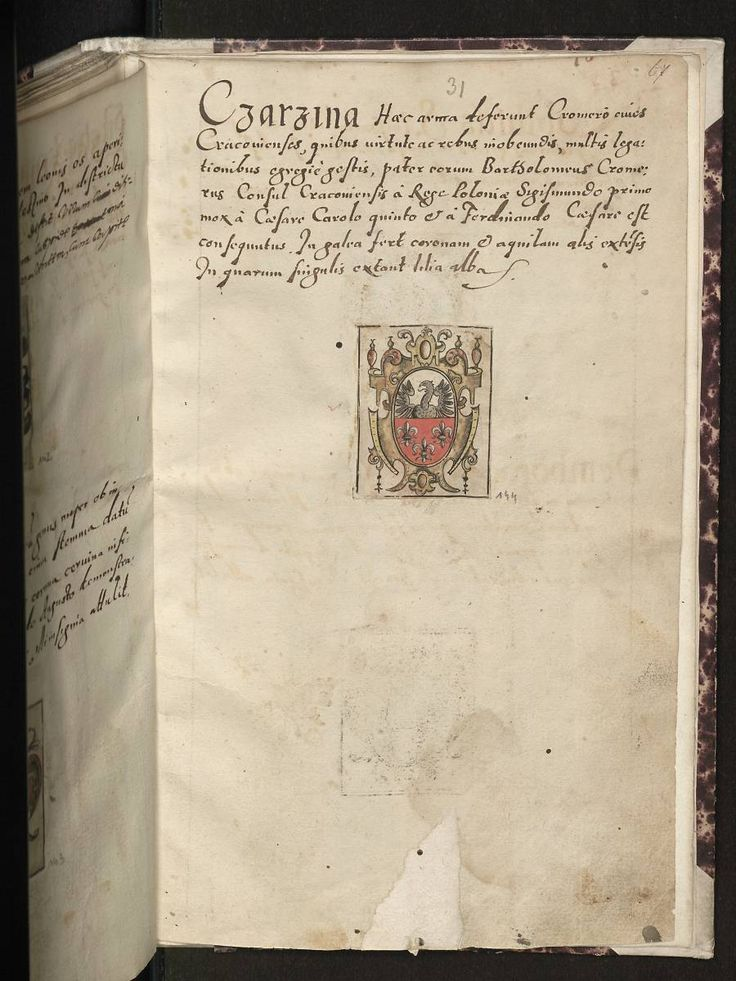 Herb Czarzyna(Kromer) - Arma baronum Regni Poloniae per Joannem Długosz descripta