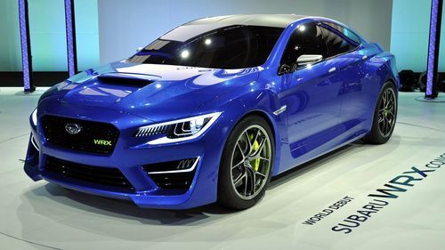 Subaru WRX Concept car in blue on backgrounds wallpapers in hd quality