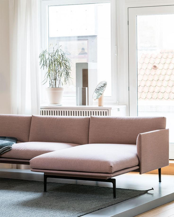Outline Sofa In Pink Designed By Anderssen Voll For Muuto