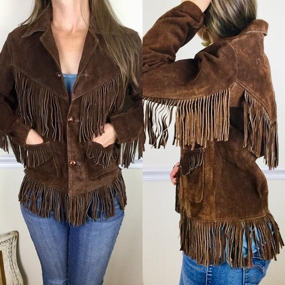 Vintage 1970s Leather Fringe Jacket By Pierre Cardin Boho Etsy Fringe Leather Jacket Fringe Jacket Leather Fringe
