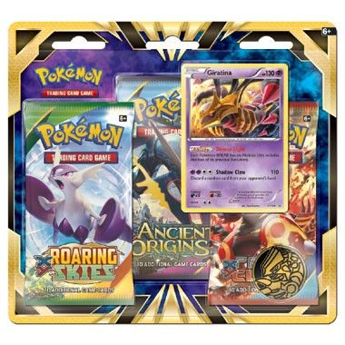 Pokémon TCG Giratina 3x Boosterblisters  Breng extra power in je Pokémon TCG collectie met de gloednieuwe foil promokaart van de Legendarische Pokémon Giratina plus 3 Pokémon TCG booster packs! Daarnaast nog een coole Pokémon munt en een codekaart voor de Pokémon TCG Online!  EUR 16.99  Meer informatie