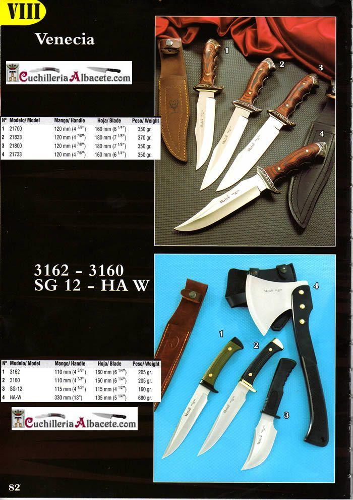 cuchillos tacticos y caza cuchillos monte - VENECIA 3162 3160 - Muela - Cuchilleria Albacete