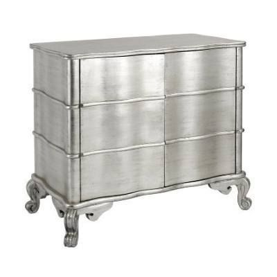 F26 - Silver Leaf Cabinet - 2 Door