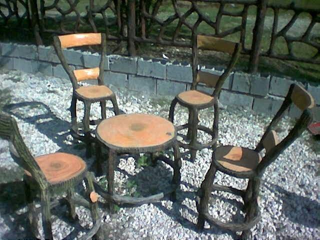 garden seat and table