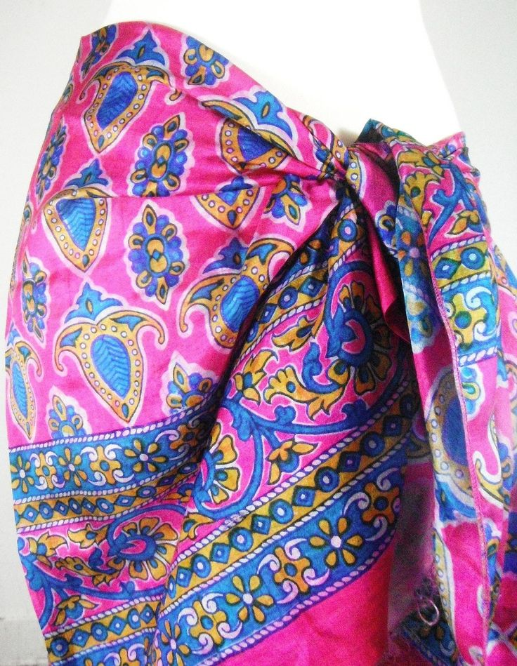 Soft Silk Pink, Blue, and Gold Paisley Scarf  #love #accessories #fallfashion #fashiondesigner #trendy