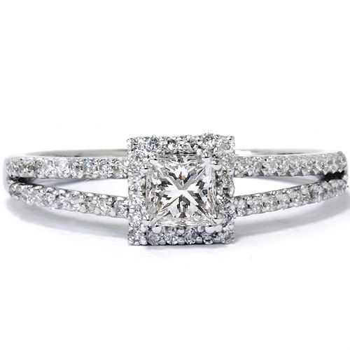Princess Cut 60CT Diamond Engagement Split Shank Pave by Pompeii3, $599.00