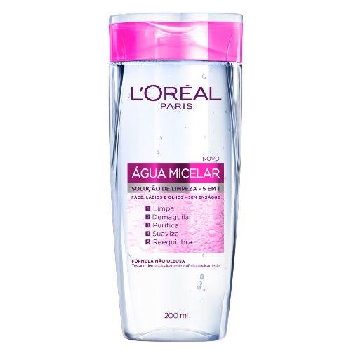 Água Micelar Solução de Limpeza Facial 5 em 1 L'Oréal Paris - Demaquilante - Época Cosméticos