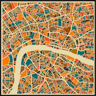 London - Jazzberry Blue - Poster im Kunststoffrahmen