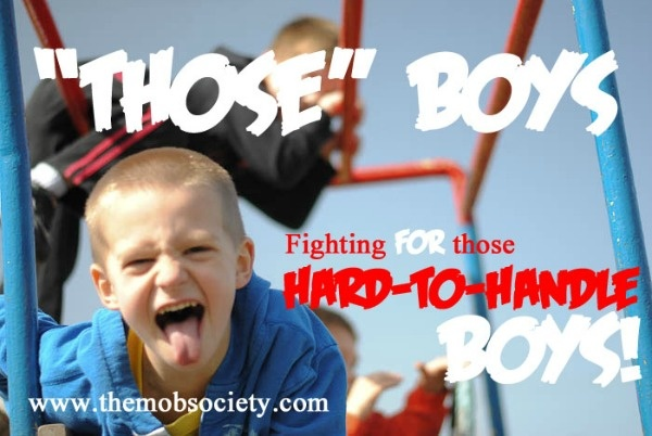 GREAT post for parents raising rough-and-tumble, loud, aggressive, energetic boys (yep...we definitely meet the above criteria).  :)