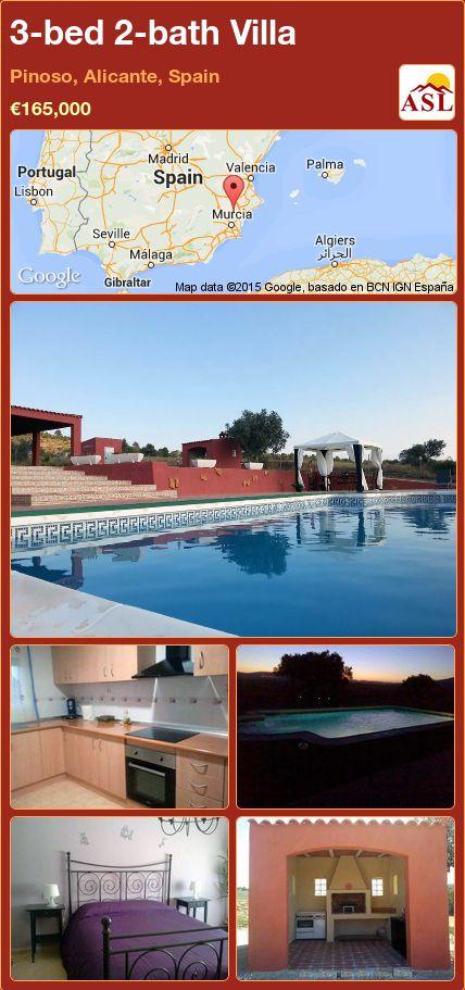 3-bed 2-bath Villa in Pinoso, Alicante, Spain ►€165,000 #PropertyForSaleInSpain