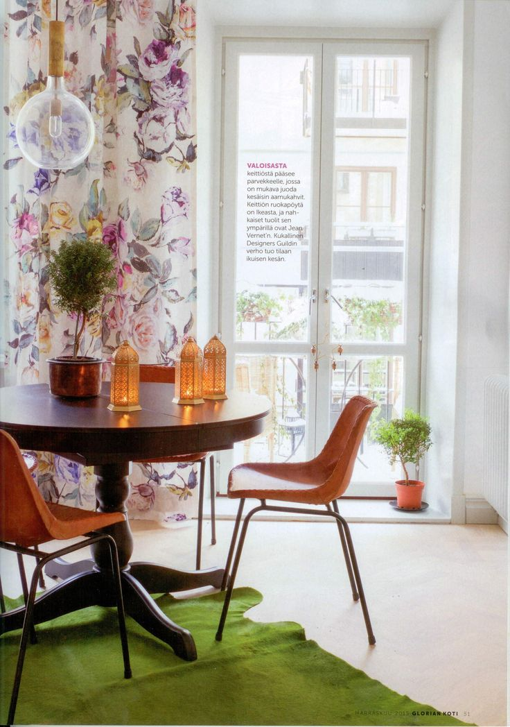 Designers Guild Viola fabric as seen in Glorian Koti, Finland
