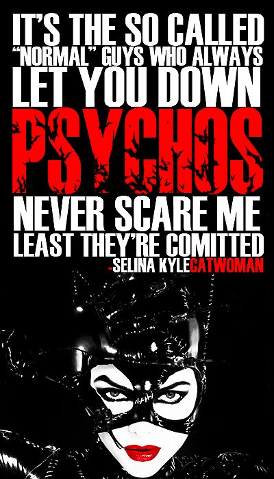 Selina Kyle wisdom
