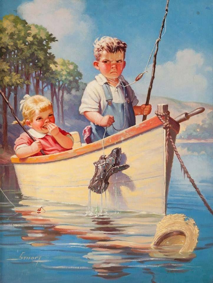 Открытки для детей с водой