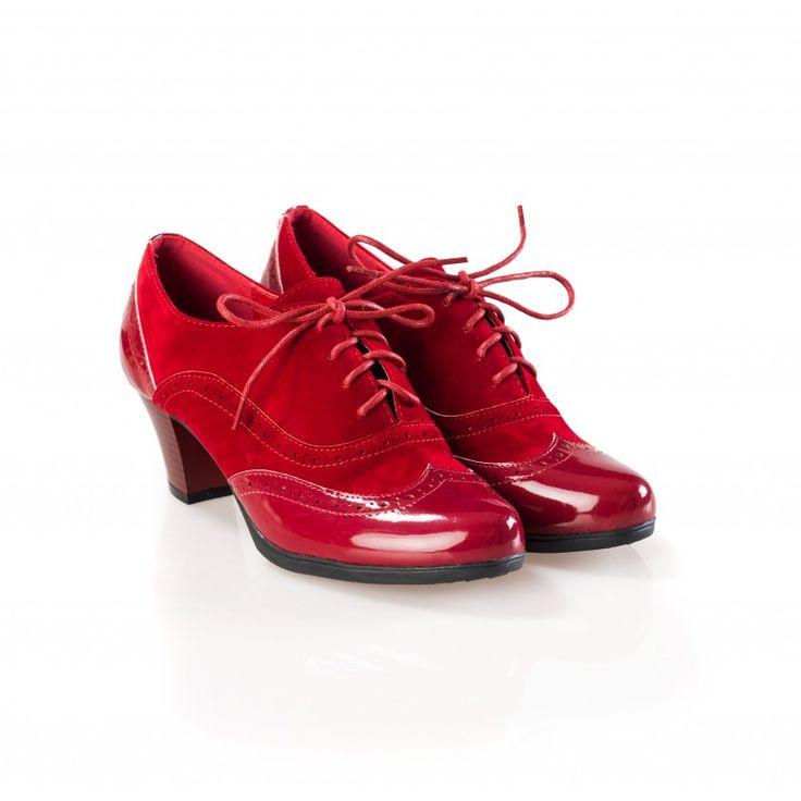Pantofi dama rosii cu toc tip Oxford Robin la pretul de 79.00 RON. Comanda Pantofi dama rosii cu toc tip Oxford Robin de la Oteros!