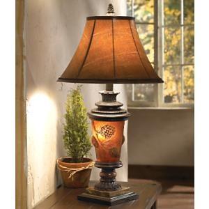 Pine Cone Glow Table Lamp Cabin Decor Pinterest Glow