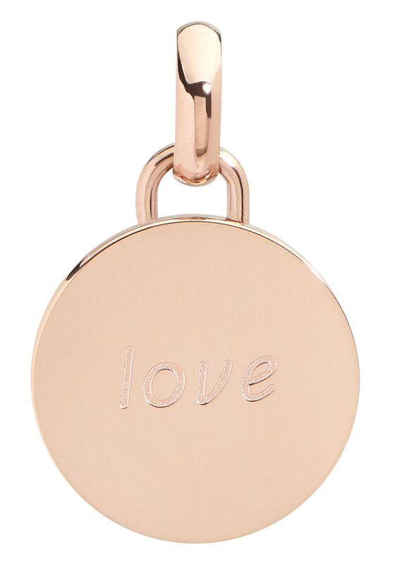 Love pendant, 15mm, rose gold