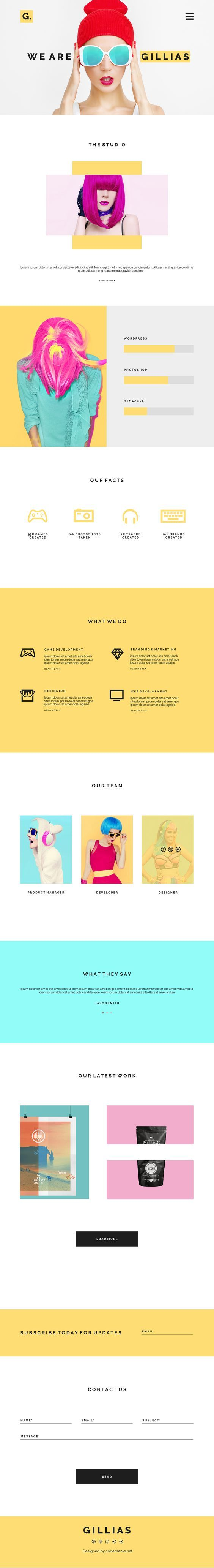 Gillias Agency Web Design by Daniel Pervaiz