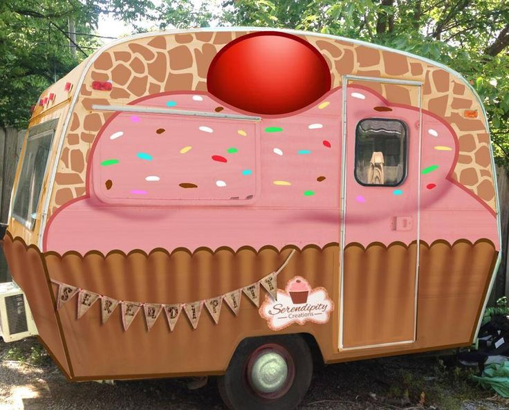 Cupcake Camper....why not!                                                                                                                                                                                 More