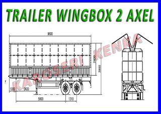 INFO HARGA >> PEMBUATAN TRAILER WINGBOX : 20 dan 40 FEET >> KAROSERI KENKA