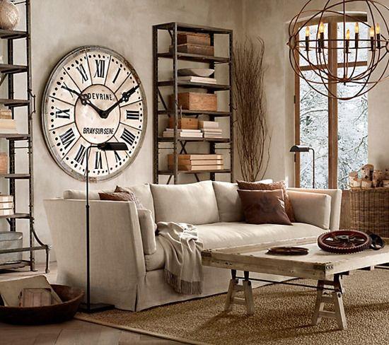 Urban Industrial Neutrals Can Still Feel Homey 38 Best Clocks Images On  Pinterest Clock Wall Wall Clocks And. Homey Ideas Unique ...