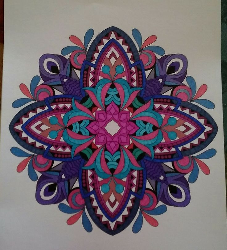 ColorIt Mandalas to Color Volume 1 Colorist: Barbara Jean Smith Kirby #adultcoloring #coloringforadults #mandalas #mandalastocolor