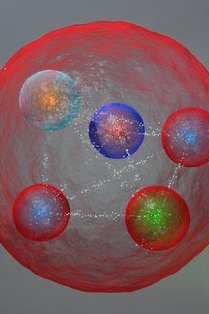 """Si chiama Pentaquark la nuova particella catturata dagli scienziati del Cern di Ginevra tramite l'acceleratore più grande del mondo, il Large Hadron Collider (Lhc). Essa è formata, come dice il nome, da cinque quark, i """"mattoni"""" della materia. Pentaquark: scoperta la nuova particella che ci permette di sapere di più sulluniverso"""
