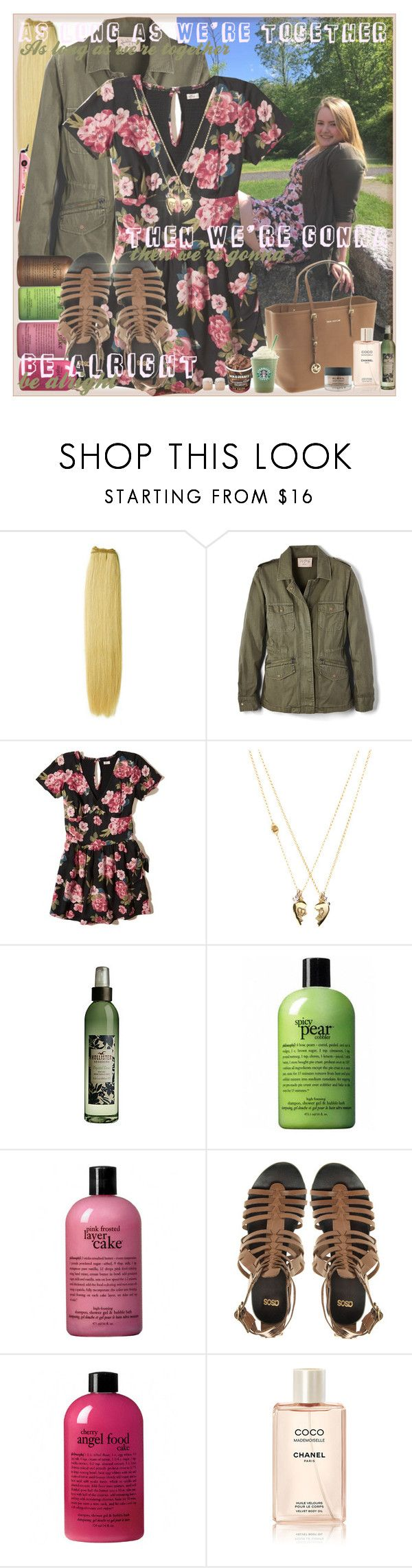 """As long as we're together then we're gonna be alright (:"" by sammylynn ❤ liked on Polyvore featuring &K, Edition, Velvet by Graham & Spencer, philosophy, Hollister Co., Juicy Couture, ASOS, MICHAEL Michael Kors, Chanel and Almay"