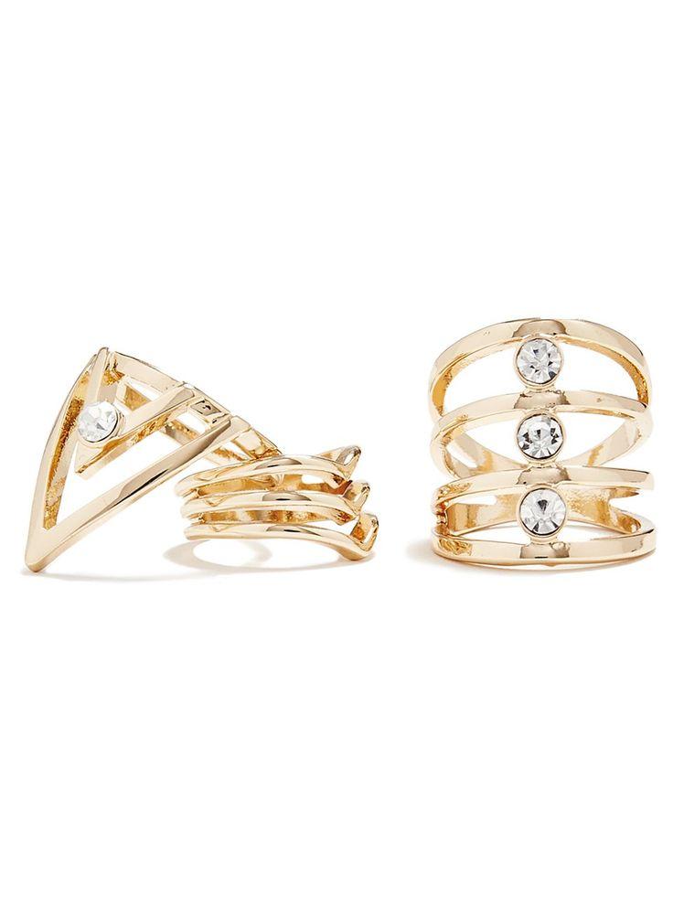 Lidia Gold-Tone Ring Set