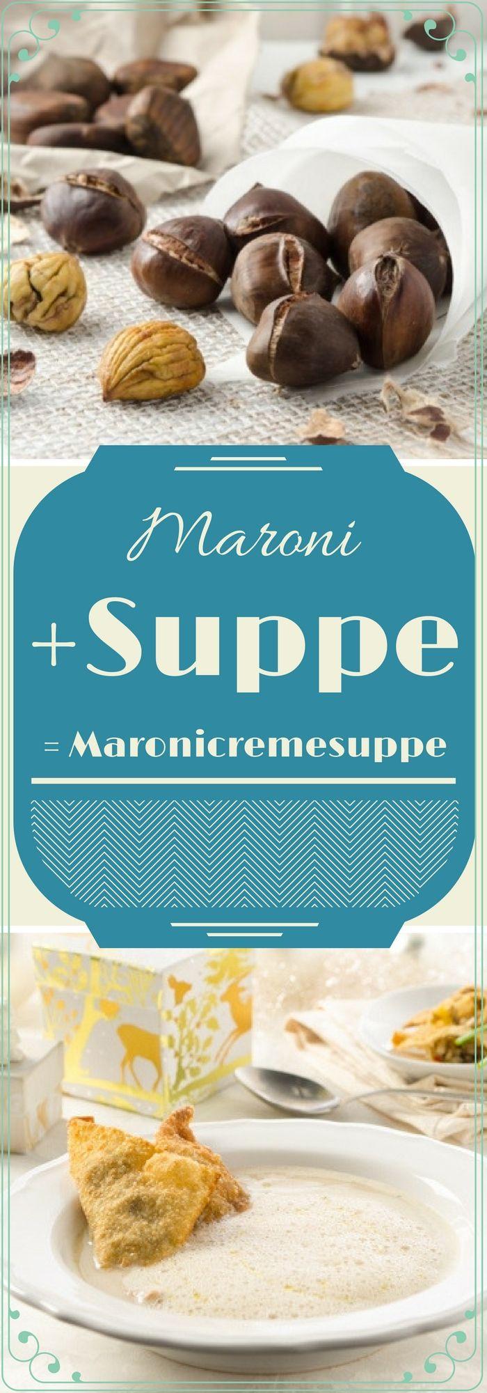 Maronicremesuppe mit Pilztascherln - traumhaft gut!
