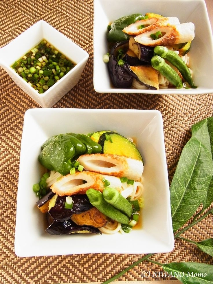 とろける茄子と素揚げ夏野菜のぶっかけ冷やしうどん by 庭乃桃 | レシピサイト「Nadia | ナディア」プロの料理を無料で検索