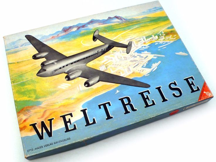 Ravensburger WELTREISE Constellation Board Game Aviation - cyan74.com vintage and pop culture shop
