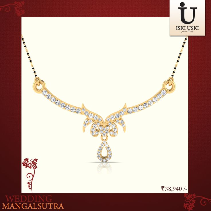 The Udyati Diamond Mangalsutra are taken from our new Collection. Get yours today.#mangalsutras #goldmangalsutra #diamondmangalsutra #IskiUski