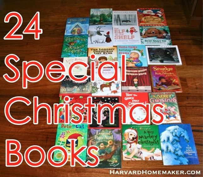 24 Special Christmas Books.  Wrap them up and choose one to read each night as a family Dec. 1-24!