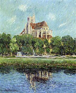 Paris - The Cathedral At Auxerre by Gustave Loiseau.