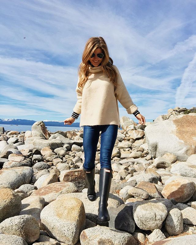 Today was the BEST day. Lake Tahoe. Quality time with Daddy. Cool weather. A massage....I mean, does it get any better?!  my sweater is oh so cozy and $70 + also comes in black!  shop my look here: http://liketk.it/2pq7Q @liketoknow.it #liketkit #ltkunder100 #ootd