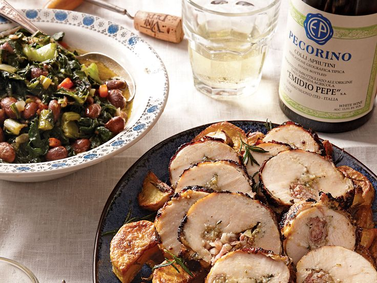 Inspired by the traditional pork classic, tender marinated chicken breasts are spread with garlic paste, herbs, and salty pancetta before being rolled and grilled in this recipe adapted from one used at Taverna 58, a restaurant in the seaside town of Pescara, Italy.
