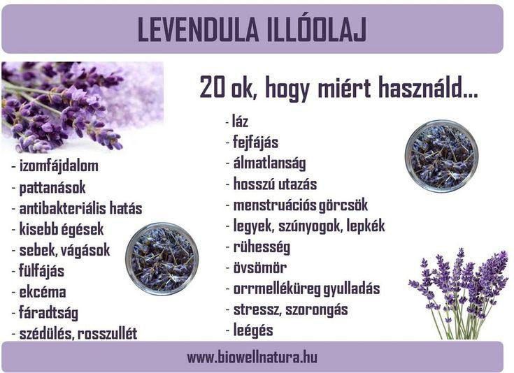 Levendula illóolaj, 100%-os higítatlan levendula illóolaj, BioWell