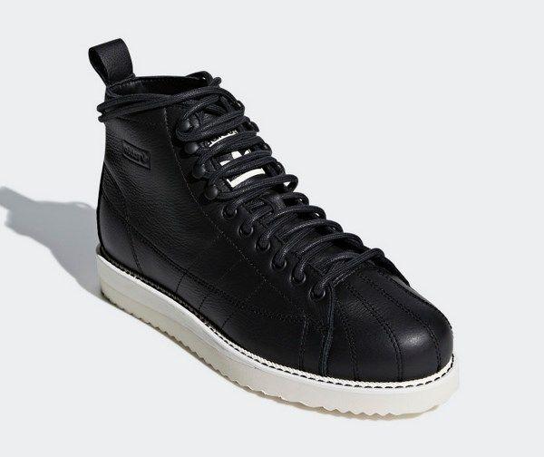 NEW women adidas original superstar boots core black size