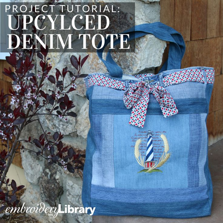 Transform a pair of jeans into a cute and crafty tote bag with this tutorial from Embroidery Library.