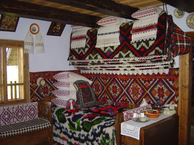 Bed in a #traditional house #Romania