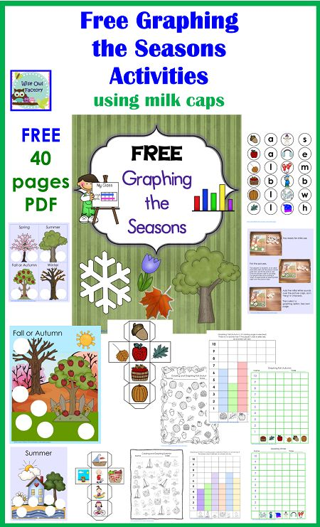 free printable for graphing the seasons PDF, 40 pages