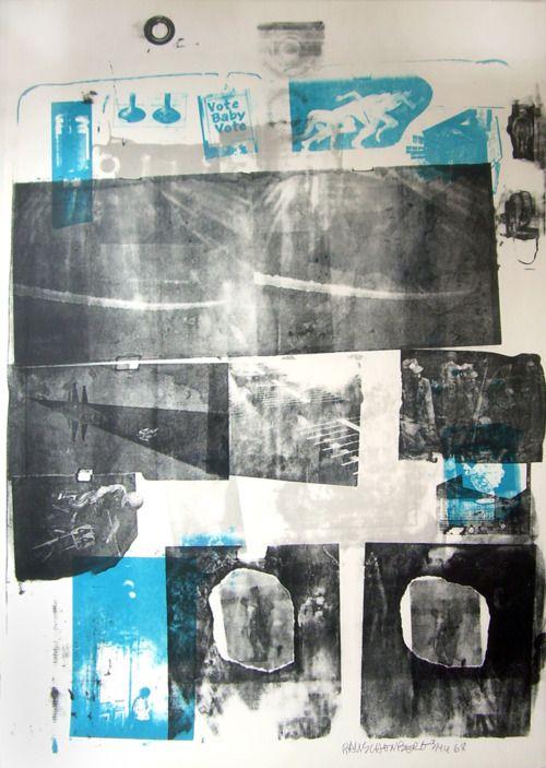 Robert Rauschenbuerg - Guardian, various artists, lithograph 1968