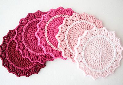 In this tutorial we'll be making a cute set of crochet coasters. The pattern uses US terms and stitches include slip stitch (sl st); double crochet (dc); chain (ch); and a magic ring. Learn how to make a set in rainbow shades, or an on-trend ombre set. | Difficulty: Beginner; Length: Short; Tags: Crochet, Homewares, Scissors, Yarn, Decorations